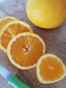 Tranches d'orange - miel de pissenlit